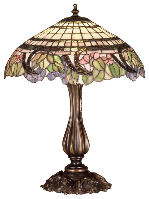 Meyda Tiffany Lamps Table Lamp in Copperfoil midcentury-table-lamps