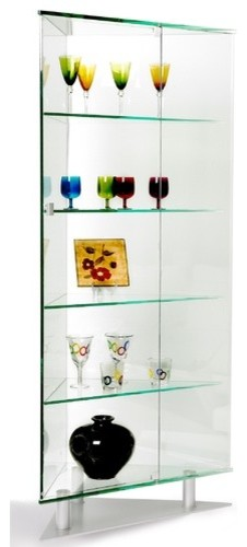 Corner Curio Cabinet - Modern - Display And Wall Shelves