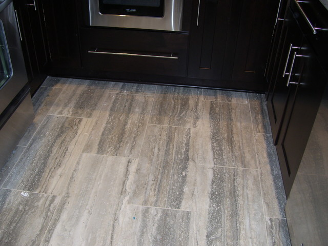Travertine Tile Flooring Modern Flooring Cleveland By