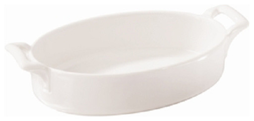 Revol Porcelain Belle Cuisine Oval Baking Dish Deep White contemporary-baking-dishes