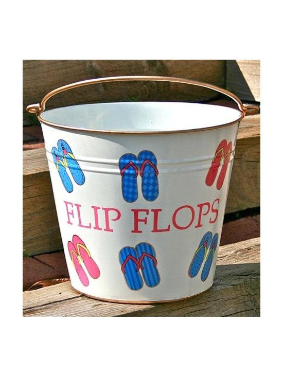 """Flip Flop Pail """"Summer Flip Flops"""" -"""