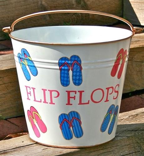 """Flip Flop Pail """"Summer Flip Flops"""" eclectic-shoeracks"""