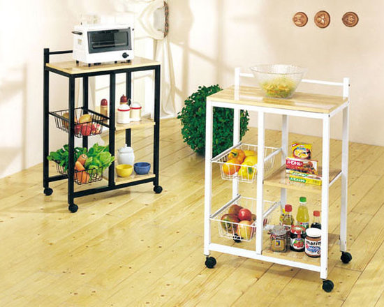 Kitchen Furniture - Sitara White Kitchen Cart