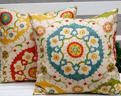 Richloom Cornwall Garden Throw Pillow Cushion Covers by Festive Home Decor mediterranean-pillows
