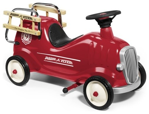 Radio Flyer | Little Red Fire Engine | Ride-on Firetruck | Toy Firetruck Ride-On traditional-kids-toys-and-games