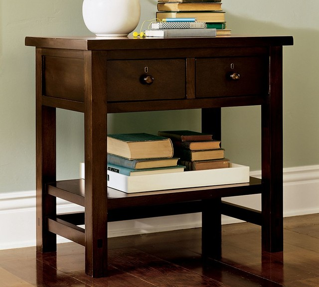 FARMHOUSE 2-DRAWER BEDSIDE TABLE traditional-nightstands-and-bedside-tables