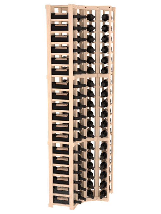 Wine Racks America® - 4 Column Wine Cellar Corner Kit in Pine, (Unstained) - Get the most storage in your wine cellar with unique corner wine racks. We construct every rack to our industry-leading standards and back them up with our lifetime warranty. Designed with emphasis on functionality, these corner racks fit seamlessly into our modular line of wine racks.