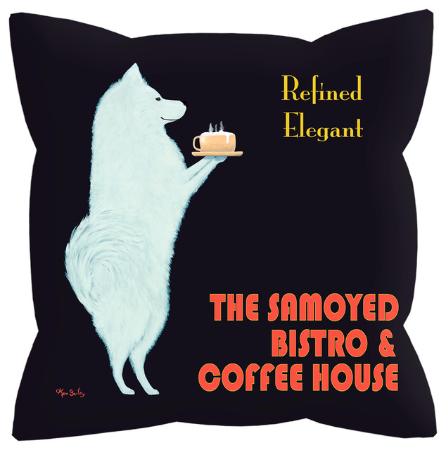 Samoyed Bistro Pillow contemporary-decorative-pillows