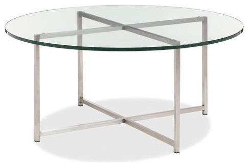 Classic Stainless Steel Cocktail Table contemporary-coffee-tables