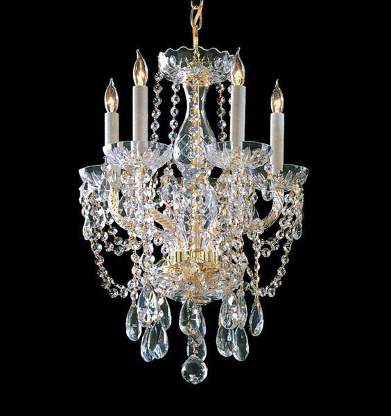 Hand Cut Crystal Chandelier modern-chandeliers