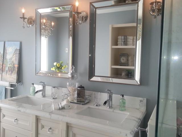 Glam Bathroom Renovation traditional
