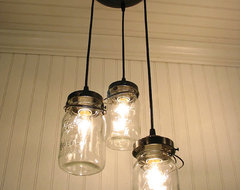 Vintage Canning Jar Chandelier by LampGoods eclectic pendant lighting