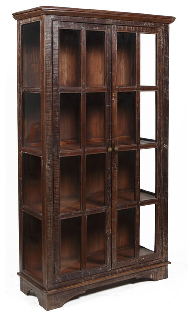Bea Wooden Curio Cabinet - Contemporary - Storage Units And Cabinets - by Overstock.com