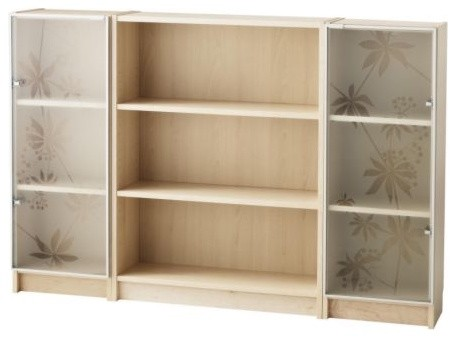 BILLY/NYCKELBY Bookcase with glass doors modern-bookcases