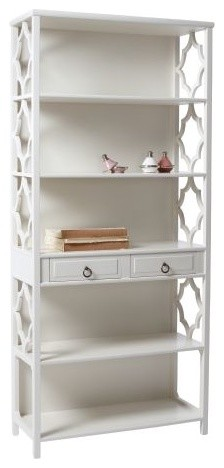 Hayworth Shelf, White traditional-bookcases