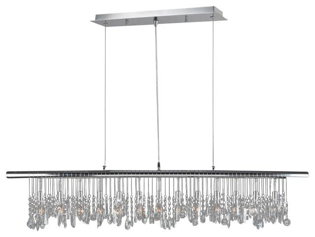 Worldwide Lighting W83110C48 Nadia 13-Light Clear Crystal Pendant traditional-chandeliers
