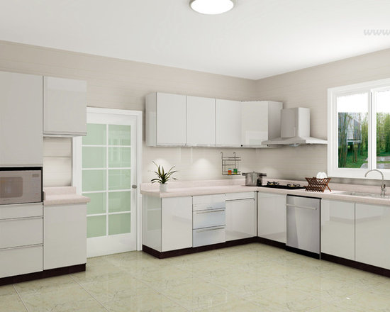 kitchen cabinet 011 - design free, customized, top quality, with bench top and top stainless steel sink