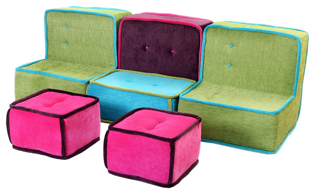 Allegra Colorfull Fabric Sofa modern kids chairs other metro