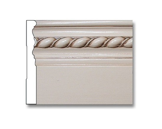 Rope Baseboard- 3/4 X 6 - Cover the joint between the wall and floor with this resin rope baseboard.