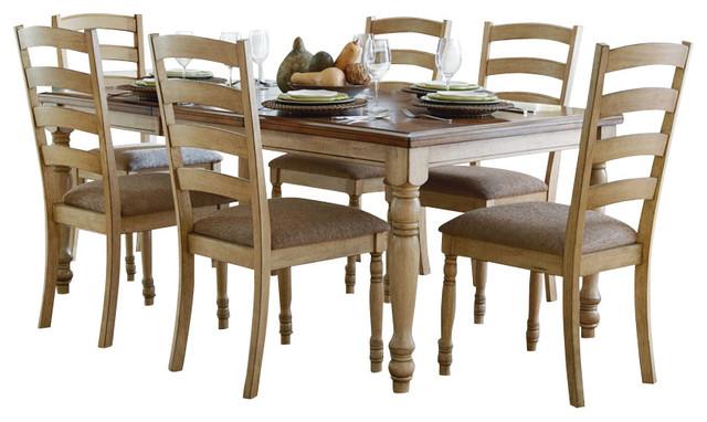 Homelegance Nash 8 Piece Rectangular Extension Dining Room Set In Oak Tradi