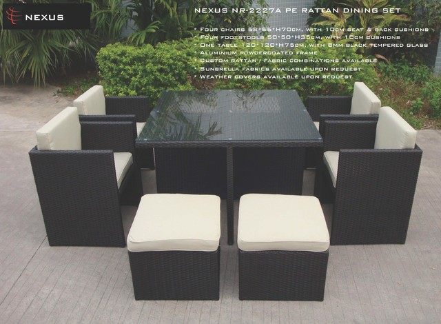 NEXUS PRODUCTS modern-outdoor-dining-tables