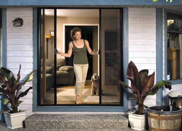 Mirage retractable screen contemporary screen doors Cost of retractable screen doors