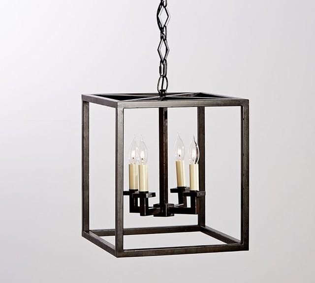 Outdoor Hanging Barn Lights: Talbot Indoor-Outdoor Lantern Contemporary-outdoor-hanging