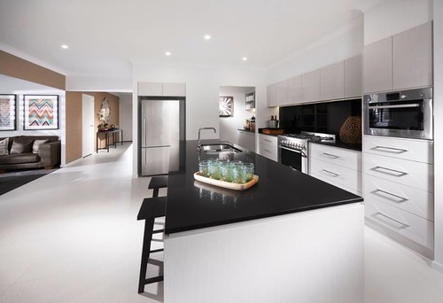 New Kitchen Colours Jet Black Caesar Stone Or A Light Colour