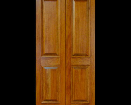Kestrel Shutters & Doors - Closet Doors - Custom sized, raised panel doors built using traditional pegged, mortise and tenon joinery.  Available unfinished, primed, painted or stained.