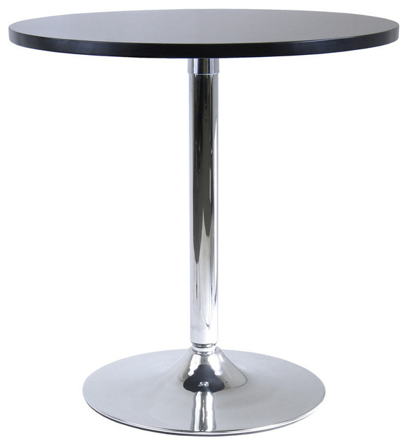 winsome wood spectrum 29 inch round dinning table w metal leg contemporary dining tables. Black Bedroom Furniture Sets. Home Design Ideas