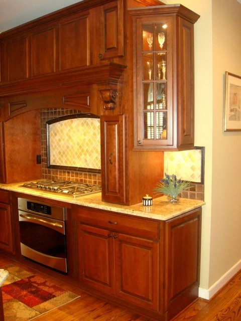 Cherry Cabinets with Chocolate Glaze, Madura Gold Granite - Traditional - other metro - by ...