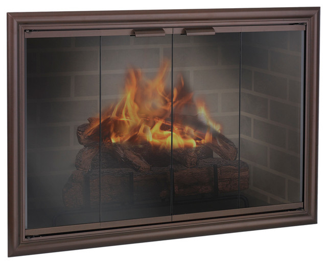 Phoenix Aluminum Fireplace Glass Door Custom Product Fireplace Accessorie