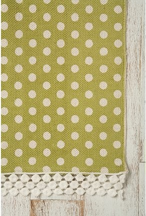 Polka Dot Printed Rug eclectic rugs