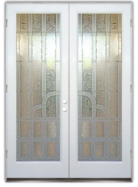 Frosted glass front door for All glass front door