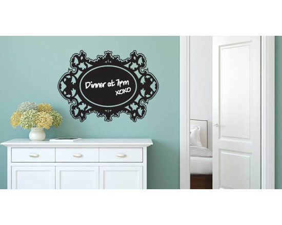 Writable wall decals - The Rococo chalkboard wall decal is a great option for those looking to decorate their spaces with a baroque or shabby chic look.