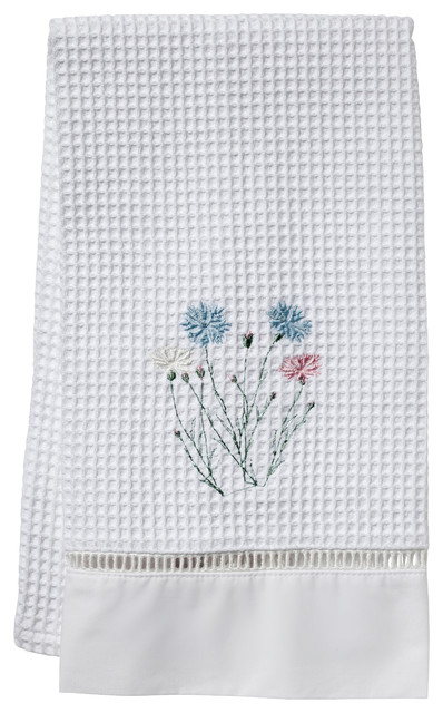 Wildflowers Waffle Weave Guest Towel traditional-towels