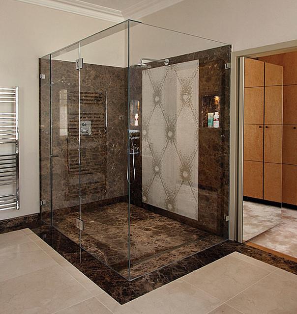 Frameless shower doors frameless glass enclosures for Frameless corner shower enclosure