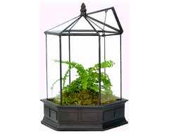 H Potter Six Sided Terrarium traditional-terrariums