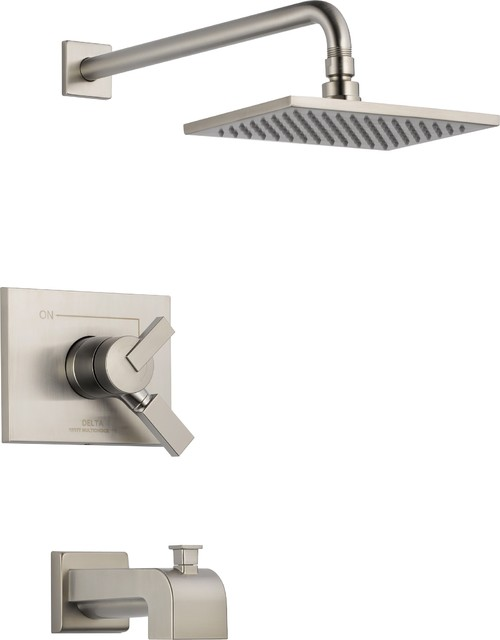 Delta T17453-SS Vero Monitor 17 Series Tub and Shower Trim with Volume Control, traditional-showers