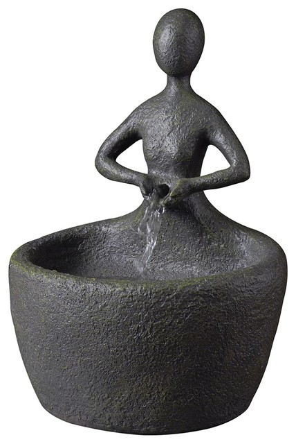 Karma Faux Stone Table Fountain contemporary-outdoor-fountains-and-ponds