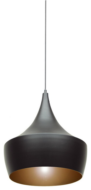 Baxton Studio Ducato Black and Gold Modern Pendant Lamp modern-pendant-lighting