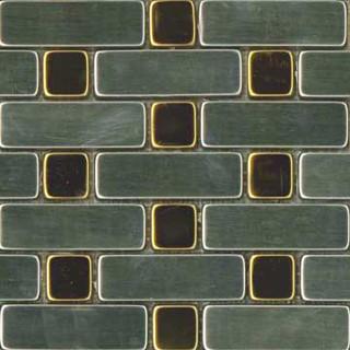 Rectangular Silver & Brass Metal Mosaic modern-tile