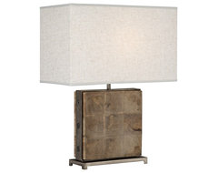 Rustic - Lodge Robert Abbey Oliver Mango Wood Table Lamp traditional-table-lamps