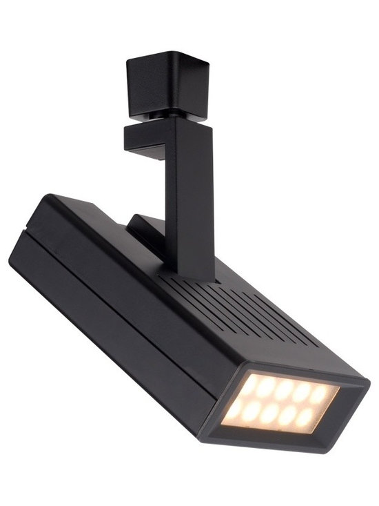 "WAC - WAC Argos 42 Degree Black 25W Led Track Head for Juno - Argos track head for use with Juno track systems. Black finish. 42 degree beam spread. Includes 25 watt LED. Light output is 1525 lumens. 2700K color temperature. CRI is 85. Average bulb life is 60000 hours when used 3 hours a day. Dimmable down to 10 percent with ELV dimmer. Die-cast aluminum construction. 360 degree horizontal rotation and 180 degree vertical aiming. ENERGY STAR® rated. 8"" high. 4 1/4"" wide.  Argos track head for use with Juno track systems.  Black finish.  42 degree beam spread.  Includes 25 watt LED.  Light output is 1525 lumens.  2700K color temperature.  CRI is 85.  Average bulb life is 60000 hours when used 3 hours a day.  Dimmable down to 10 percent with ELV dimmer.  Die-cast aluminum construction.  360 degree horizontal rotation and 180 degree vertical aiming.  ENERGY STAR® rated.  8"" high.  4 1/4"" wide."