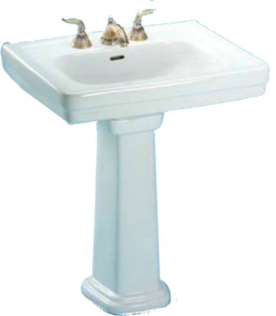 Toto LPT530N Cotton White Promenade Pedestal Lavatory, Sink Only Single Hole - Transitional ...