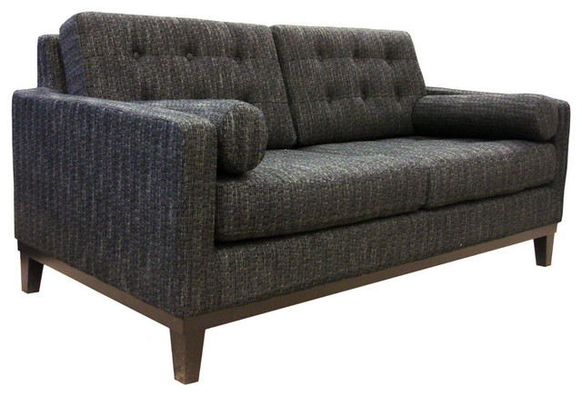 Centennial Loveseat in Charcoal Fabric contemporary-loveseats