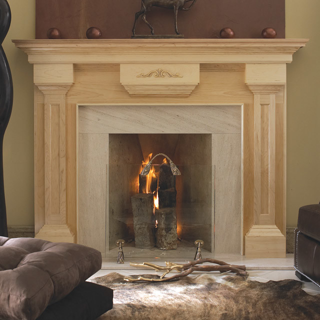 Beaumont Wood Fireplace Mantel Traditional Indoor