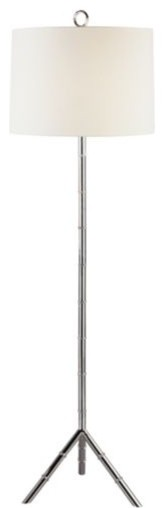 Meurice Polished Nickel Floor Lamp by Jonathan Adler contemporary-floor-lamps