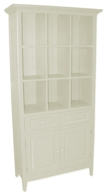 New China Cabinet White/Cream Painted - Traditional - China Cabinets And Hutches