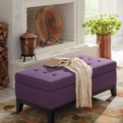 Linley Fabric Storage Ottoman modern ottomans and cubes